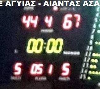Αίαντας Α.Σ.Α.Α.: Σημαντική νίκη με Αγυιά 44-67-vid