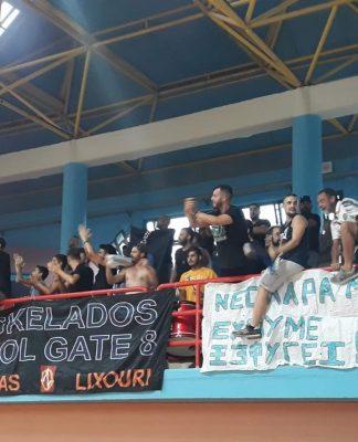Ν.Ε.Ο. Ληξουρίου: Πανηγυρικό κλίμα από τους ULTRAS EGKELADOS-Pics/vid